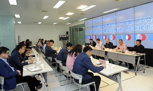 集团公司召开安全生产委员会2019年第二次会议暨集团纪委以案促改推进工作电视电话会议